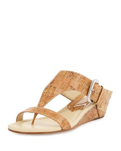 Doli Demi-Wedge Slide Sandal, Natural