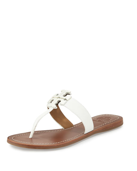 Tory Burch Moore 2 Leather Thong Sandal, White