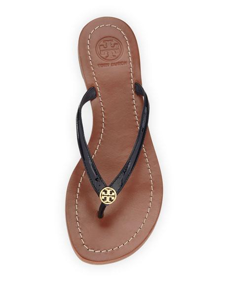 ace4c856f7ed Tory Burch Terra Patent Thong Sandal