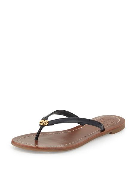 Tory Burch Terra Patent Thong Sandal, Navy