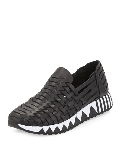 Jupiter Huarache Slip-On Sneaker, Black