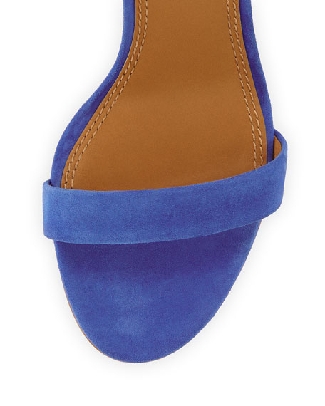 Elana Suede 85mm Sandal, Jelly Blue