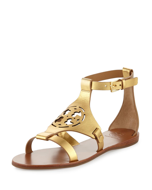 479efdf0fb64 Tory Burch Zoey Leather Logo Flat Sandal
