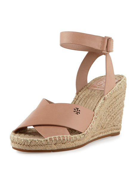 Tory Burch Bima Leather Wedge Espadrille Sandal, Makeup