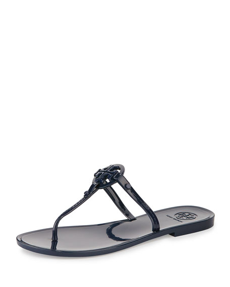 Colori Logo Jelly Flat Thong Sandal, Tory Navy