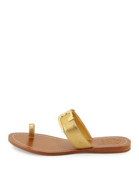 9732b8ad532b Tory Burch Marcia Metallic Toe Ring Sandal