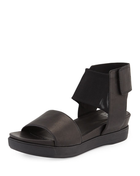 Eileen Fisher Spree Sport Leather Sandal, Black