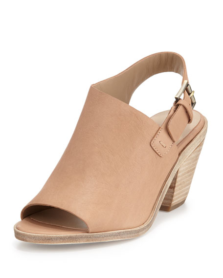 Eileen Fisher Glance Leather Slingback Sandal, Sand