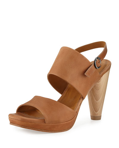 Lily Leather Slingback Sandal, Sahara