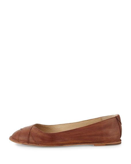 Ember Cross Leather Ballet Flat, Cognac