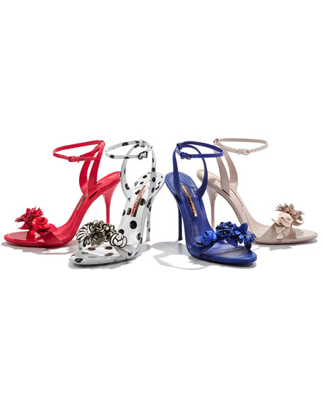 Lilico Floral Leather Sandal, Royal