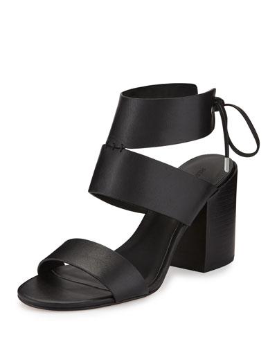 Christy Leather City Sandal, Black