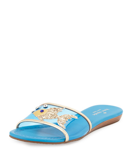 kate spade new york tara fish flat slide