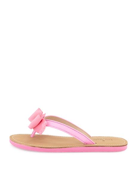 ida bow thong sandal, carousel pink