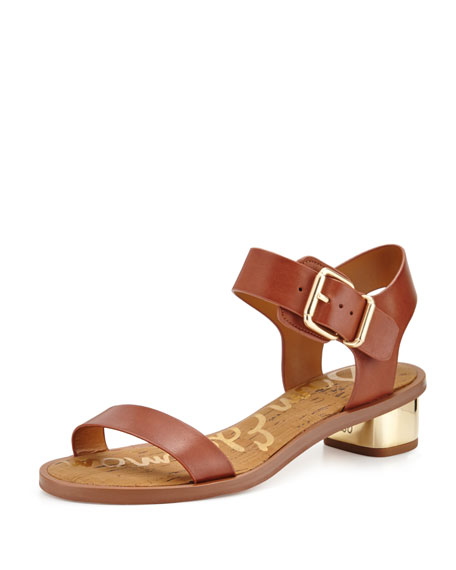 Sam Edelman Trina Leather City Sandal, Whiskey