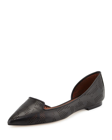 Cole Haan Neara Perforated Half-d'Orsay Skimmer Flat, Black