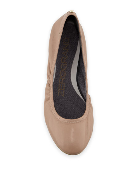 ZeroGrand™ Stagedoor Stud Ballerina Flat, Maple Sugar