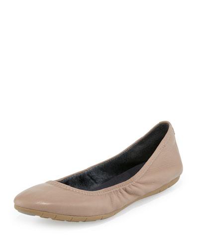 ZeroGrand™ Stagedoor Stud Ballerina Flat, Maple Sugar