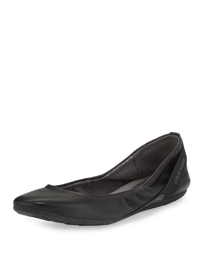 ZeroGrand™ Stagedoor Ballerina Flat, Black