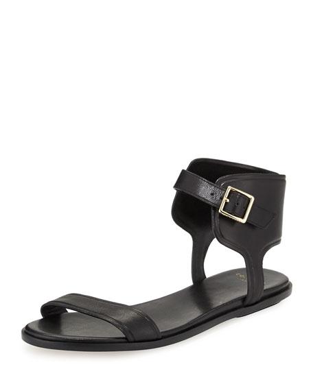 Cole Haan Barra Leather Ankle-Strap Sandal, Black