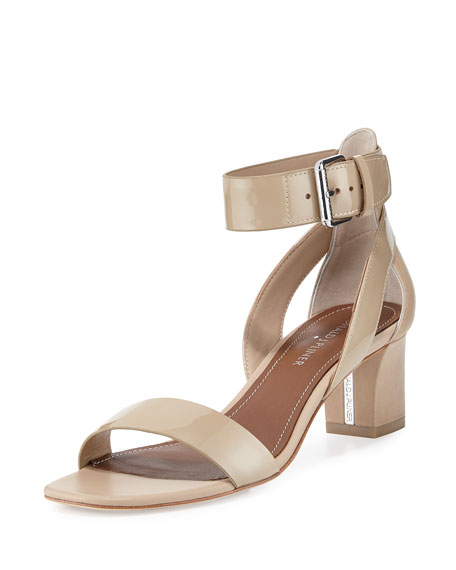 Donald J Pliner Farah Patent/Leather City Sandal, Sand