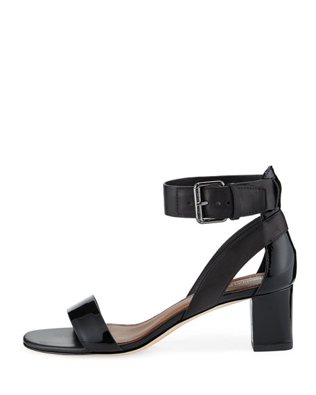 Farah Patent/Leather City Sandal, Black