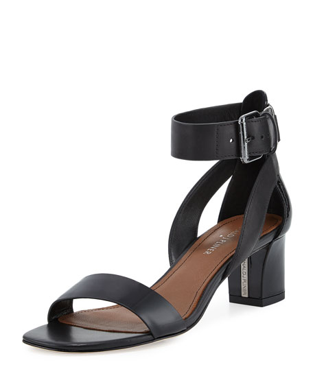 Donald J Pliner Farah Patent/Leather City Sandal, Black