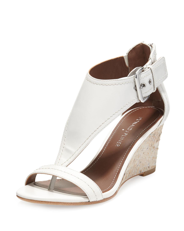 June T-Strap Wedge Sandals