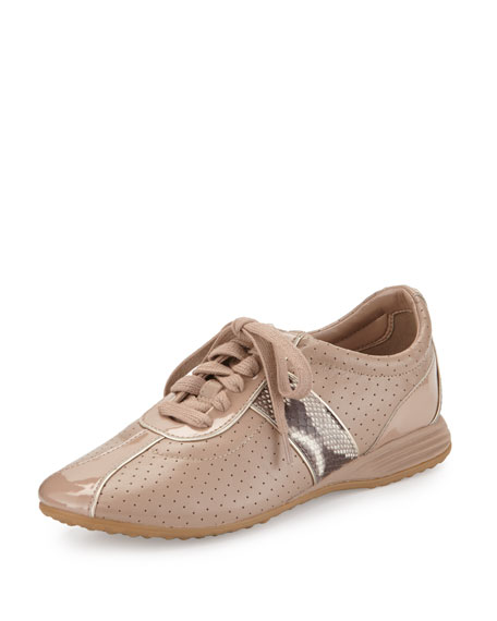 Cole Haan Bria Grand Perforated Leather Sneaker, Maple