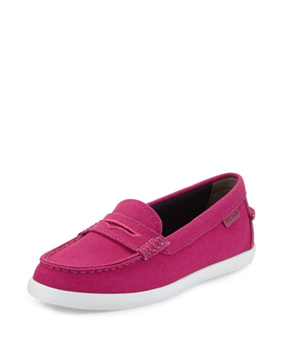 Nantucket Canvas Loafer, Fuchsia Red
