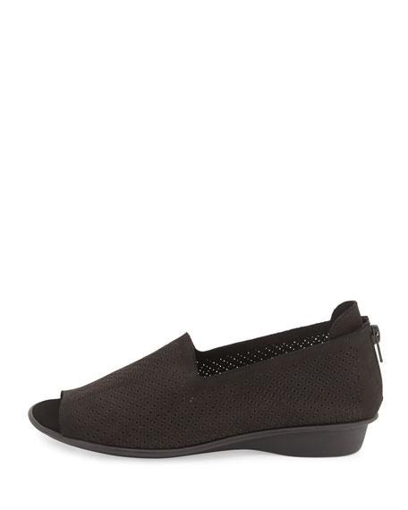 Eadan Open-Toe Demi-Wedge Sandals, Black