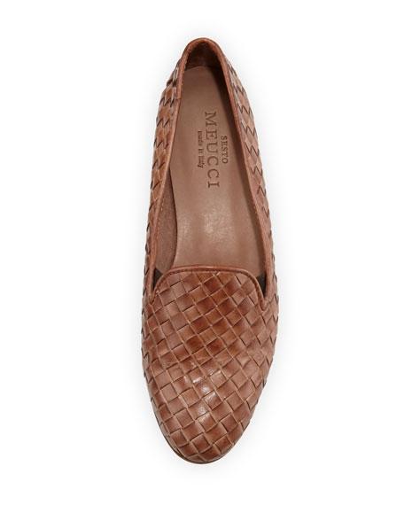 Nader Woven Leather Loafer, Natural