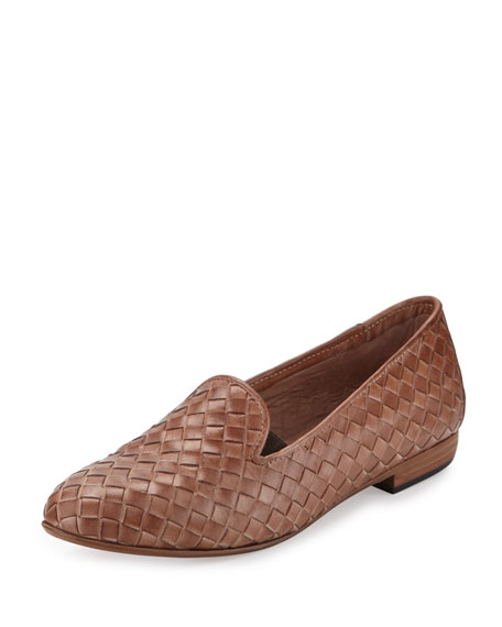 Sesto Meucci Nader Woven Leather Loafer, Natural