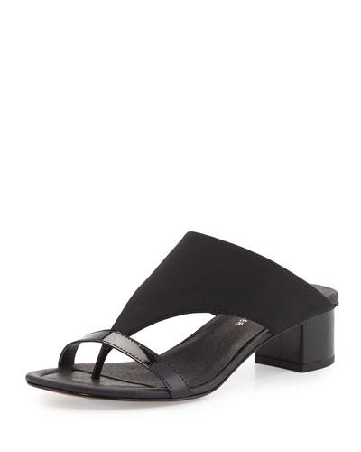 Maara T-Strap Slide Sandal, Black