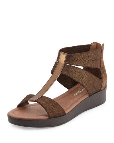 Voni Strappy Comfort Casual Sandal, Bronze