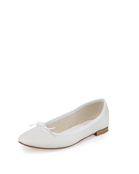 Repetto Cendrillon Leather Ballerina Flat, White (Blanc)