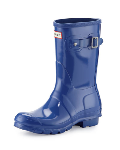 Original Short Gloss Rain Boot, Bright Cobalt