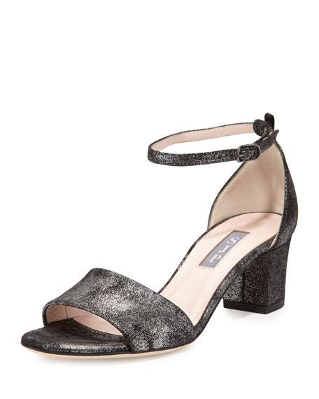 SJP by Sarah Jessica Parker Skyler Metallic City Sandal, Anthracite