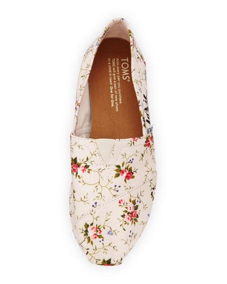 Seasonal Classic Alpargata Canvas Slip-On, Blush Floral