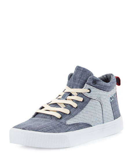 TOMS Camila Striped High-Top Sneaker, Chambray Stripe