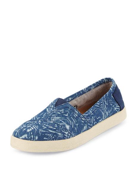TOMS Avalon Printed Slip-On Sneaker, Blue