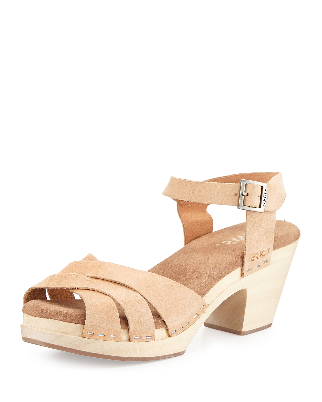 64213e6006207b TOMS Beatrix Leather Clog Sandal