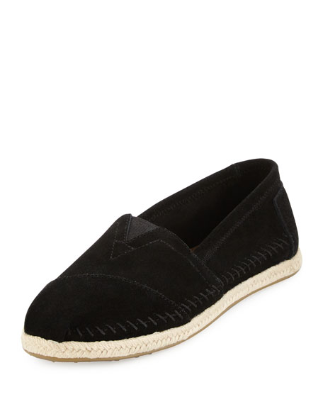TOMS Seasonal Classic Alpargata Suede Slip-On, Black