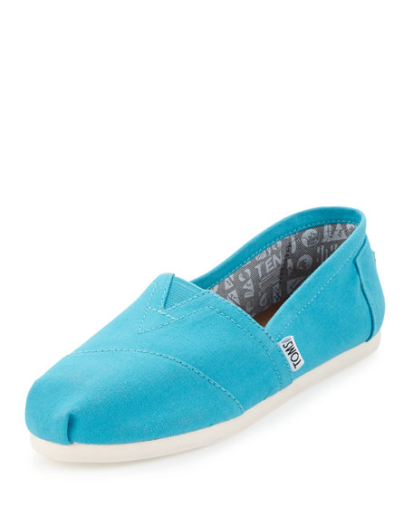 TOMS Seasonal Classic Alpargata Canvas Slip-On, Peacock Blue