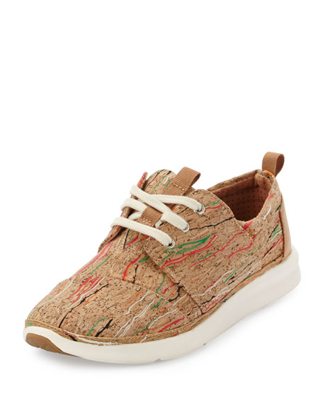 TOMS Del Rey Printed Cork Sneaker, Multi Cork