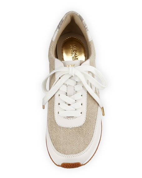 Stanton Hemp Lace-Up Trainer, Natural