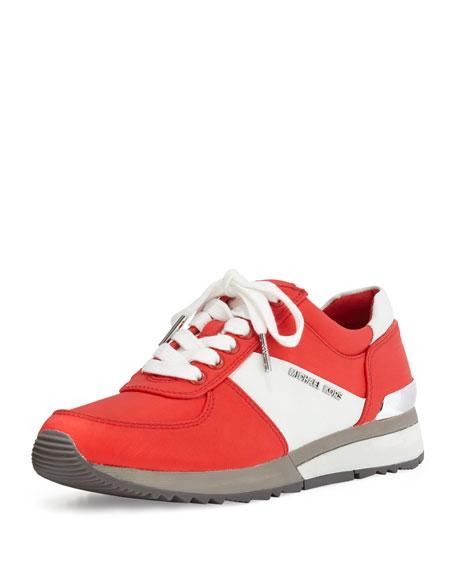 MICHAEL Michael Kors Allie Colorblock Trainer Sneaker, Coral Reef