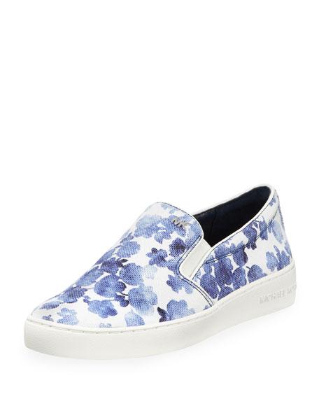 Keaton Floral Slip-On Skate Sneaker, Blue
