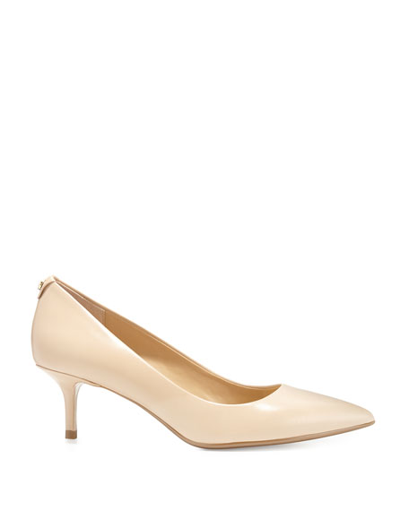 MICHAEL Michael Kors MK-Flex Leather Mid-Heel Pump, Nude | Neiman ...