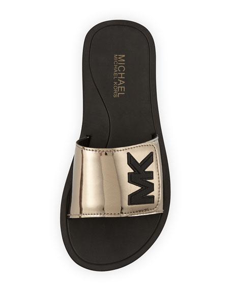 MK Sport Slide Sandal, Nickel